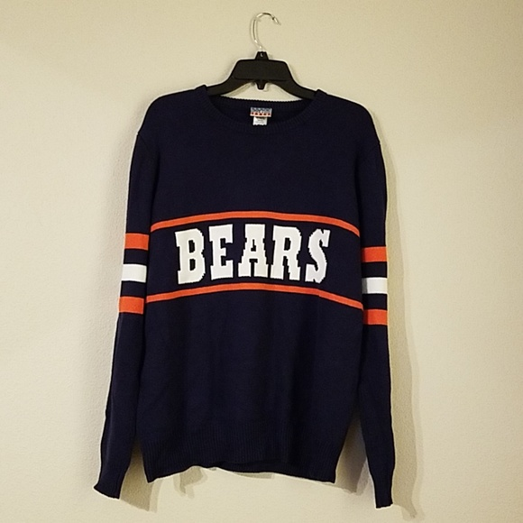 official photos f5a1a 5730a 80s Vintage Chicago Bears Football Knit Sweater L